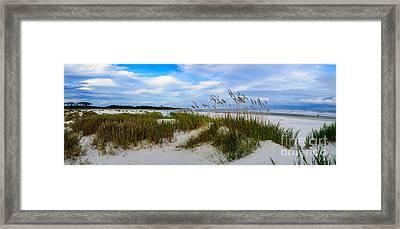 Sand Dunes And Blue Skys Framed Print