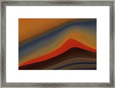 Sand Dunes At Sunset Framed Print by Art Spectrum