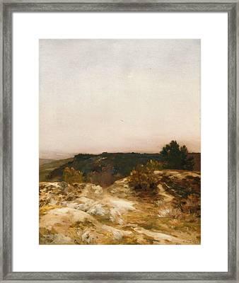 Sand Dunes At Sunset Framed Print