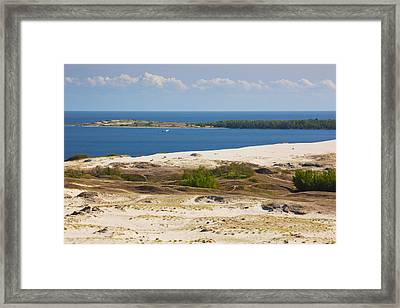 Sand Dunes At The Coast, Parnidis Dune Framed Print by Panoramic Images
