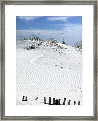 Framed Print featuring the photograph Sand Dunes Dream 2 by Marie Hicks