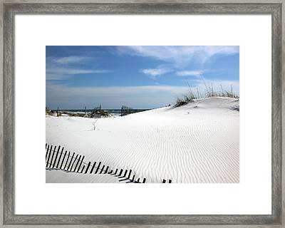 Sand Dunes Dream Framed Print by Marie Hicks
