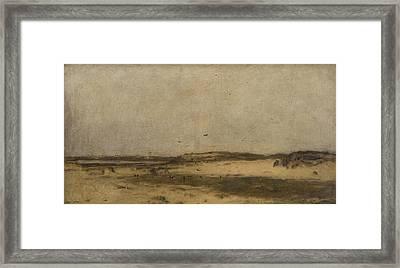 Sand Dunes In Holland Framed Print
