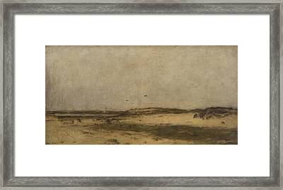 Sand Dunes In Holland Framed Print by Jettel