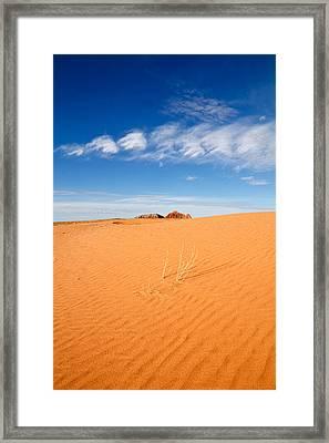 Sand Dunes In San Rafael Desert Framed Print by Utah Images