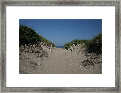 Sand Dunes Iv Framed Print by Jeff Porter