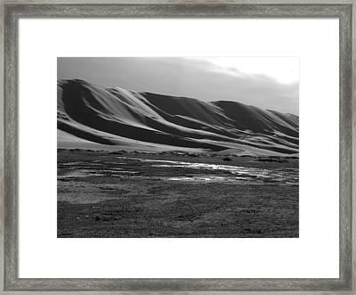 Sand Dunes Of The Gobi Framed Print