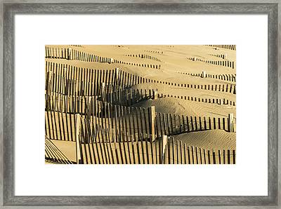 Sand Dunes Of The Outer Banks Framed Print