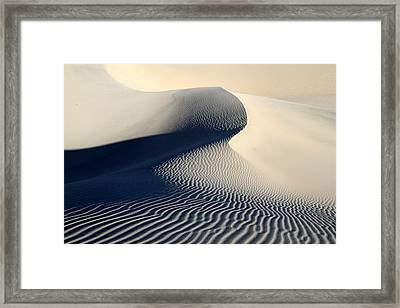 Sand Dunes Patterns In Death Valley Framed Print by Pierre Leclerc Photography