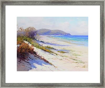 Sand Dunes Port Stephens Nsw Framed Print