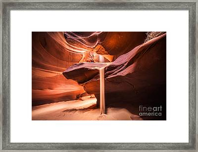 Sand Falls In Antelope Canyon Framed Print