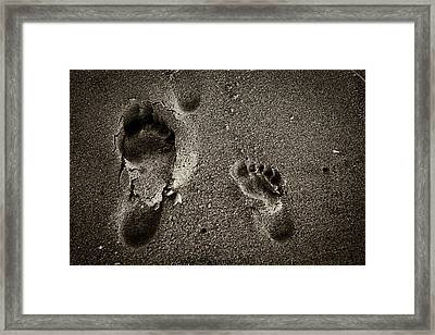 Framed Print featuring the photograph Sand Feet by Lora Lee Chapman