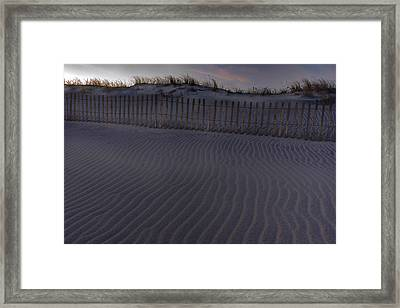 Sand Fence At Robert Moses Framed Print