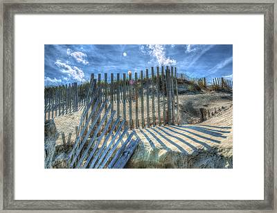 Sand Fence Framed Print by Greg Reed