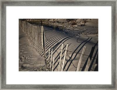 Sand Fence Framed Print by Joel P Black