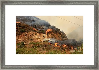 Sand Fire Framed Print by Nina Prommer