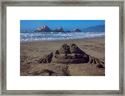 Sand Frog  Framed Print by Garry Gay