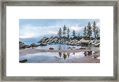 Sand Harbor Framed Print