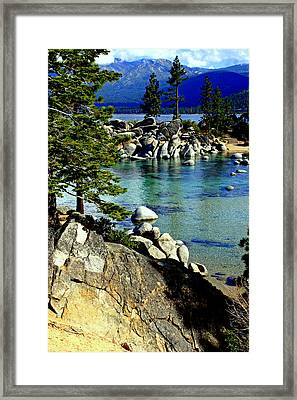 Sand Harbor Morning Framed Print