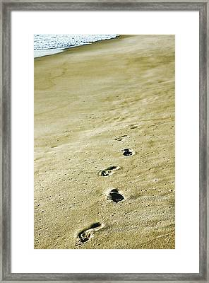 Sand In Motion Framed Print by JAMART Photography