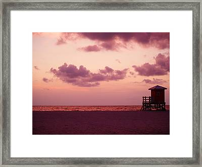 Sand Key Sunset Framed Print by Milton Brugada