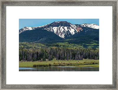Sand Mountain From Steamboat Lake Framed Print