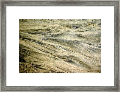 Sand Pattern Framed Print by Marty Koch