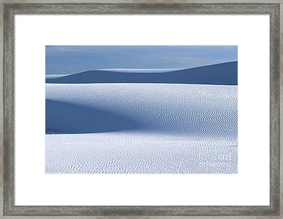 Sand Patterns Framed Print by Sandra Bronstein