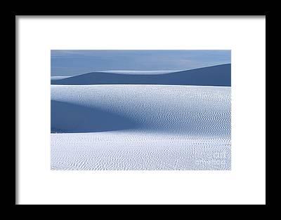 White Sands Framed Prints