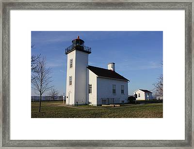 Sand Point Lighthouse In Escanaba Framed Print