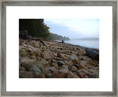 Sand Point Sunrise Framed Print by Cathy Weaver
