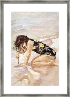 Sand Puddles Framed Print by Gladiola Sotomayor