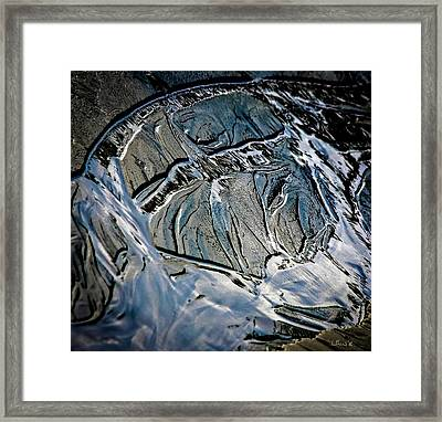 Sand Reflection Framed Print