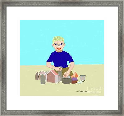 Sand Sculptor Framed Print by Fred Jinkins