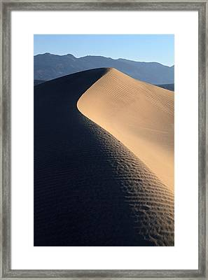 Sand Sculptures In Death Valley Framed Print by Pierre Leclerc Photography