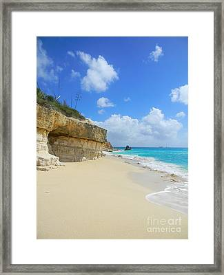 Sand Sea And Sky Framed Print by Expressionistart studio Priscilla Batzell