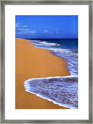 Sand Sea Sky Framed Print by Thomas R Fletcher