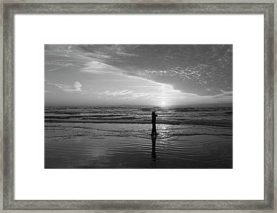 Sand Sea You And Me Framed Print by Betsy Knapp