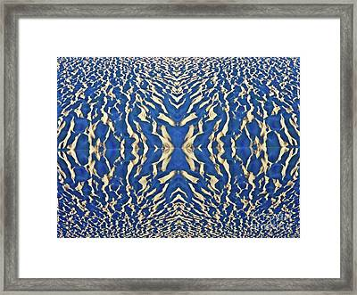 Sand Shadow Matrix Framed Print