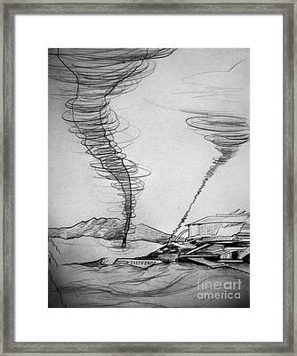 Sand Storm And Old Laboratory Framed Print by Sofia Metal Queen