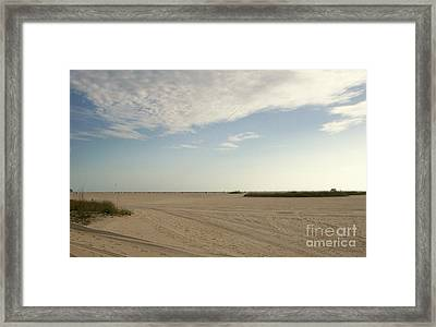 Sand Storm At St. Pete Beach Framed Print by Gail Kent