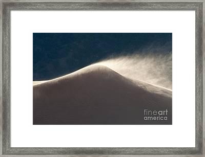 Sand Storm Framed Print by Sandra Bronstein