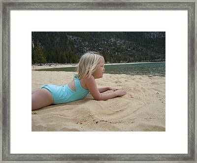 Framed Print featuring the photograph Sand Sun And Someone You Love by Dan Whittemore