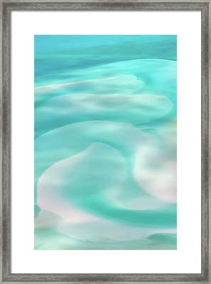 Framed Print featuring the photograph Sand Swirls by Az Jackson