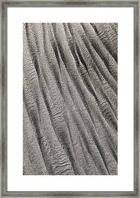 Framed Print featuring the digital art Sand Waves by Julian Perry