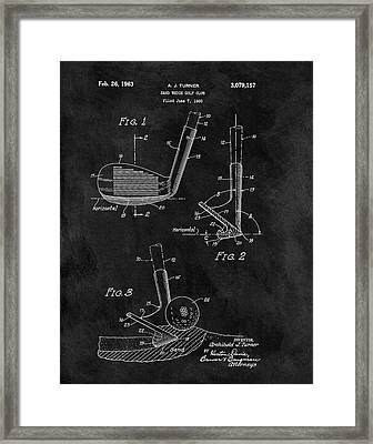 Sand Wedge Patent Framed Print by Dan Sproul