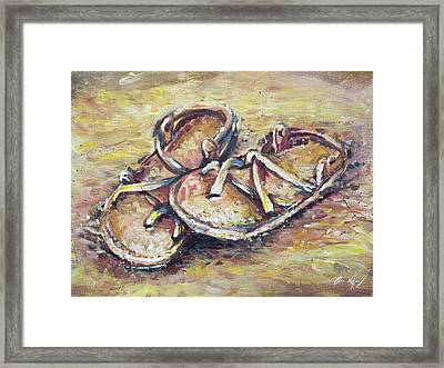 Sandals Framed Print by Aaron Spong