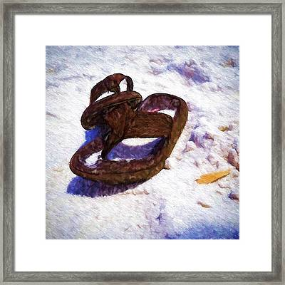 Sandals In The Sand Framed Print