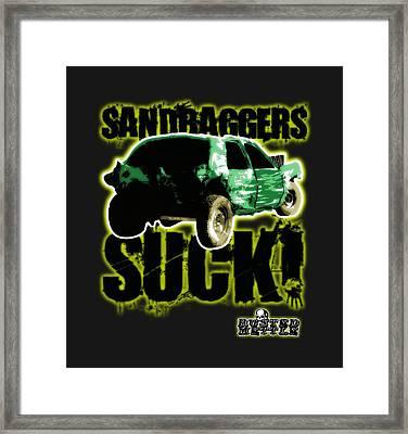 Sandbaggers Suck Framed Print