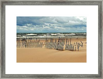 Sandblasted Framed Print
